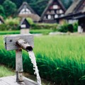 豊かな水-岐阜県白川村:白川郷