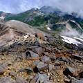 Photos: 登山道を振り返る-長野県松本市:乗鞍岳