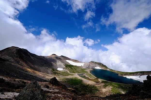 夏雲湧く-長野県松本市:乗鞍岳