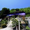 本殿を見上げて-滋賀県長浜市:竹生島