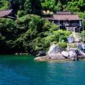 真夏の日差し-滋賀県長浜市:竹生島