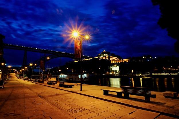 ドウロ川の夜明け-Porto, Portugal