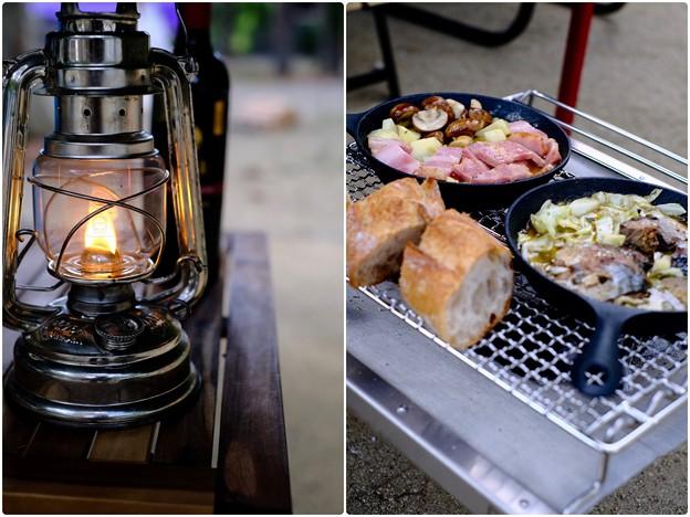 夕食の準備-奈良県天川村:松林オートキャンプ場