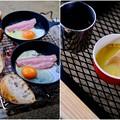 朝食も楽し-奈良県天川村:松林オートキャンプ場