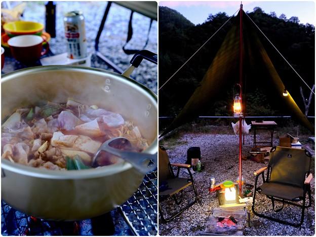 男の料理は豪快なのだ-奈良県野迫川村:アドベンチャーランドキャンプ場