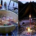 Photos: 男の料理は豪快なのだ-奈良県野迫川村:アドベンチャーランドキャンプ場