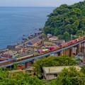 Photos: 玉川橋梁をゆくEF66-133コンテナ列車