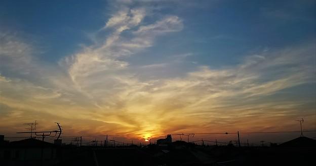 夕日が沈む頃