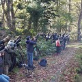 野鳥を狙うカメラマンたち