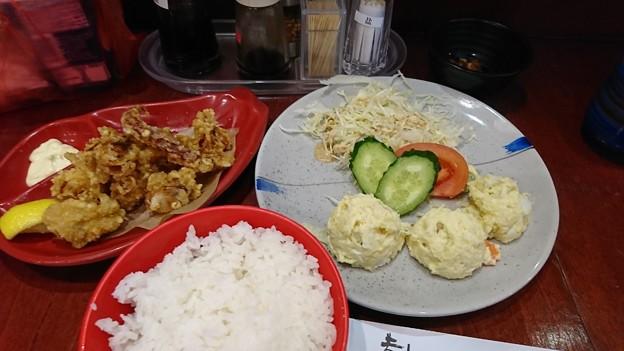イカのとび揚げポテトサラダ