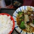 牛タンとブロッコリー炒め