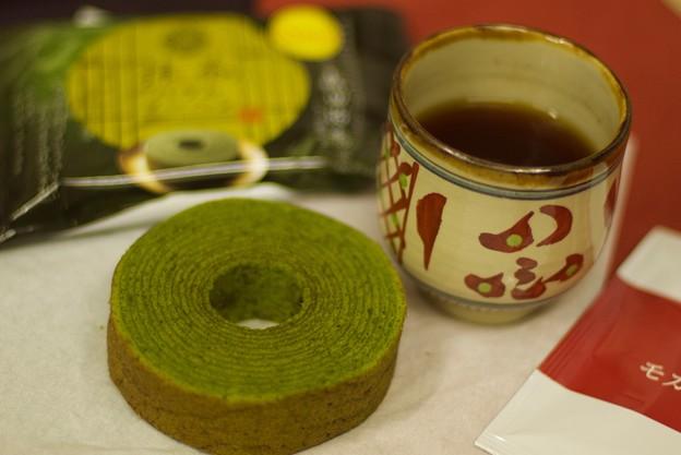 抹茶のバウムクーヘン