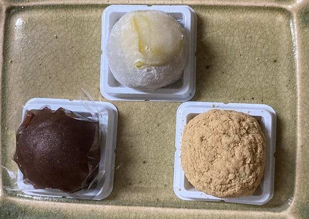 Photos: 笹屋伊織の和菓子3種