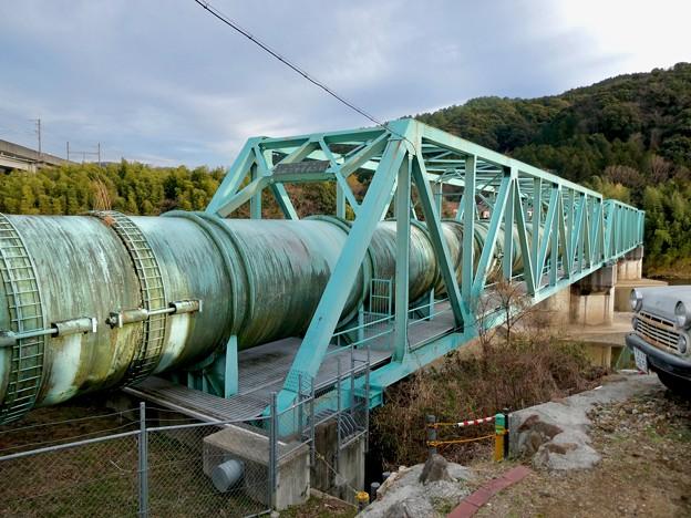 庄内川に架かる愛知用水関連の「高蔵寺サイホン橋」 - 1