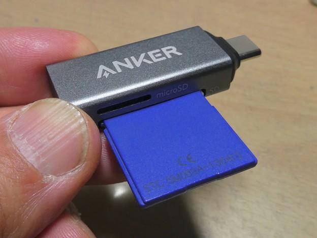 Anker USB-C 2-in-1 Card Reader - 11:SDカード接続時