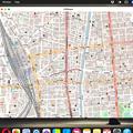 Photos: iPad用アプリ「OSMaps」をMacで使用
