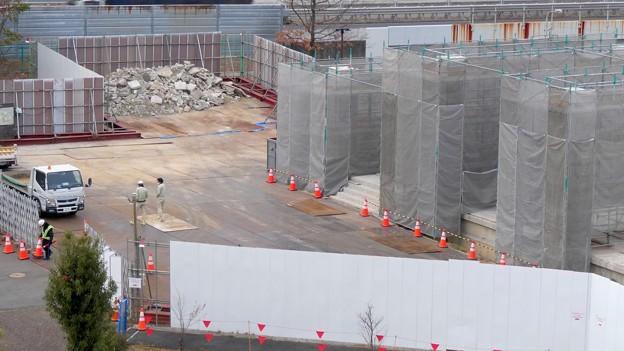 桃花台線の桃花台東駅解体撤去工事(2021年3月4日):残りの部分の撤去も開始 - 9