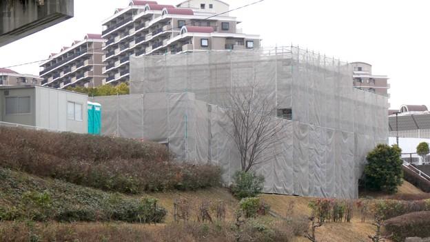 桃花台線の桃花台東駅解体撤去工事(2021年3月4日):残りの部分の撤去も開始 - 14