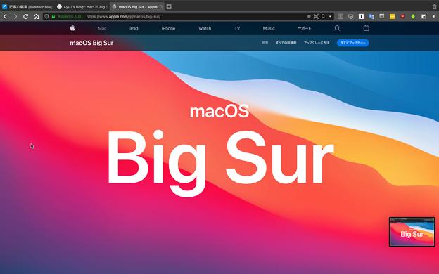 macOS Big Sur:スクリーンショット撮影後にサムネイル表示 - 1