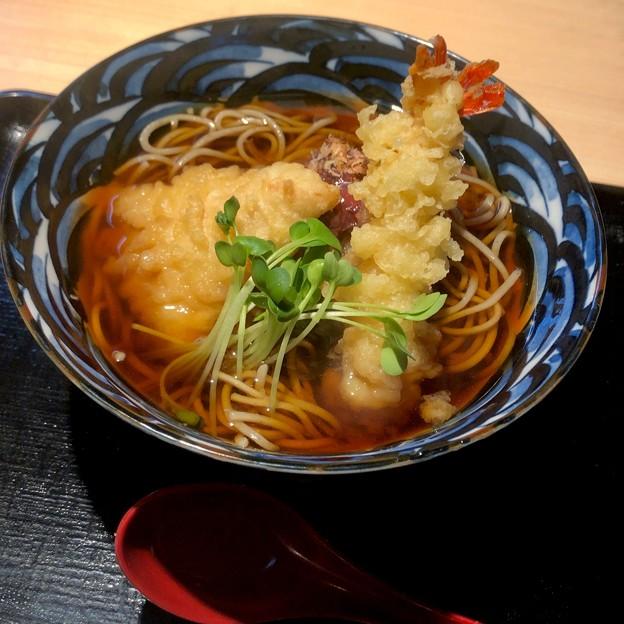 とんとろ春日井店の季節限定「海老・鶏 梅おろし蕎麦」 - 2