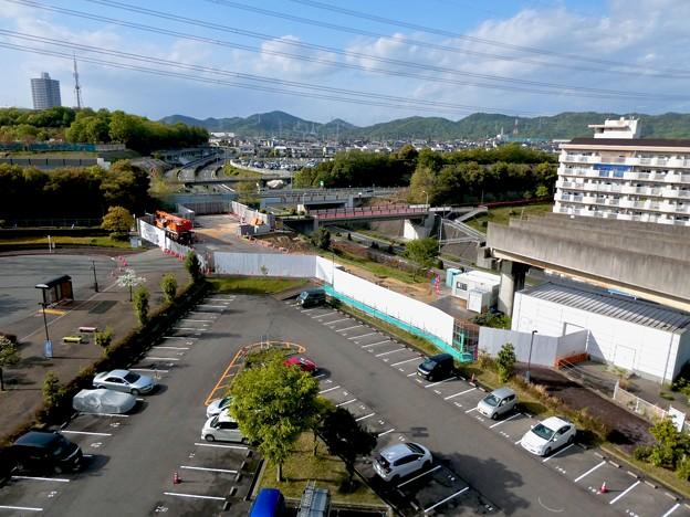 解体工事中の旧・桃花台東駅(2021年4月18日) - 13