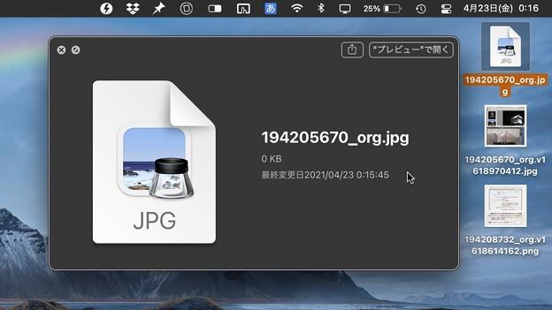 フォト蔵の不具合:中身がないファイルがダウンロードされる!