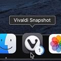 Vivaldi Snapshot 3.8:ダウンロード経過をDockアイコンに表示