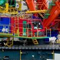 リニア坂下非常口工事現場の巨大移動式クレーン(2021年5月1日) - 10