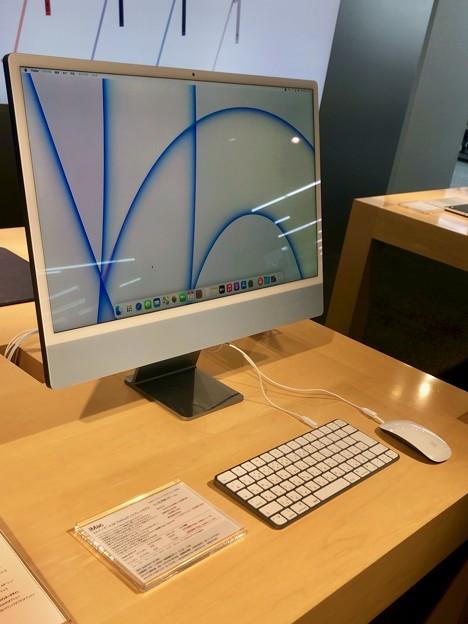 M1搭載iMacのブルーモデル - 1:本体一式