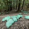 Photos: 雨が理由か土嚢が崩れてた弥勒山の登山道(2021年7月12日) - 1