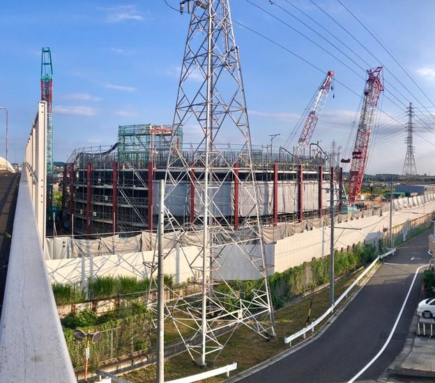 建設中のリニア中央新幹線 神領非常口(2021年7月25日)