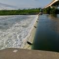 吉根橋近くの堰を流れる水 - 1