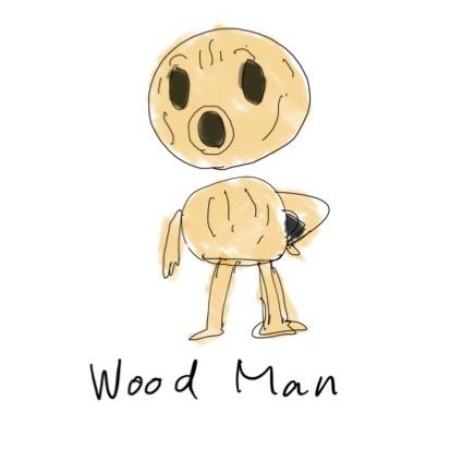iPadメモアプリで書いたウッドマン
