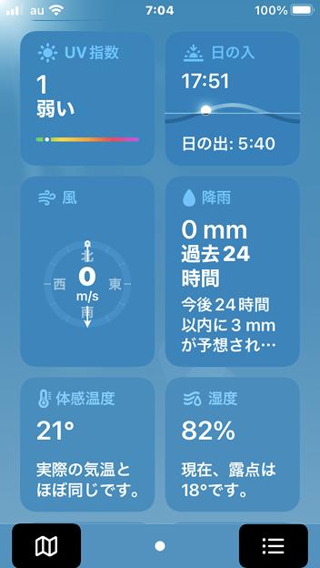 iOS15:天気アプリ - 9
