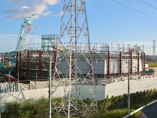 建設中のリニア中央新幹線 神領非常口(2021年9月29日)- 2
