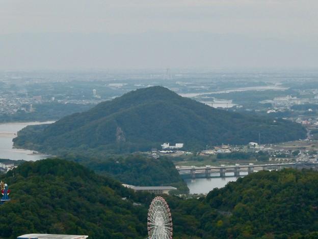 継鹿尾山の山頂から見た景色 - 8:伊木山