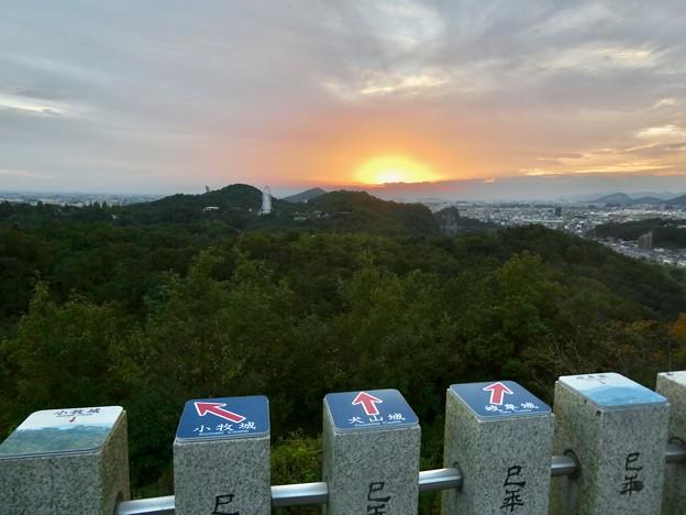 寂光院展望台から見た夕焼け - 1