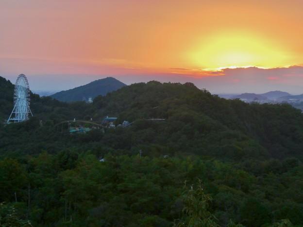 寂光院展望台から見た夕焼け - 2