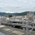 鵜沼駅から見た陰平山と八木山・双子山・愛宕山