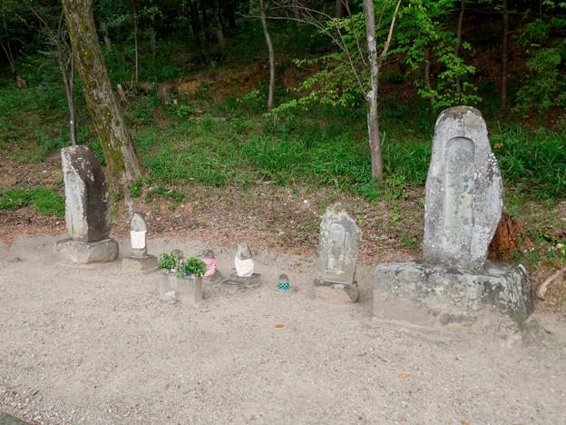 日本ラインうぬまの森:陰平山麓にある石碑や石像
