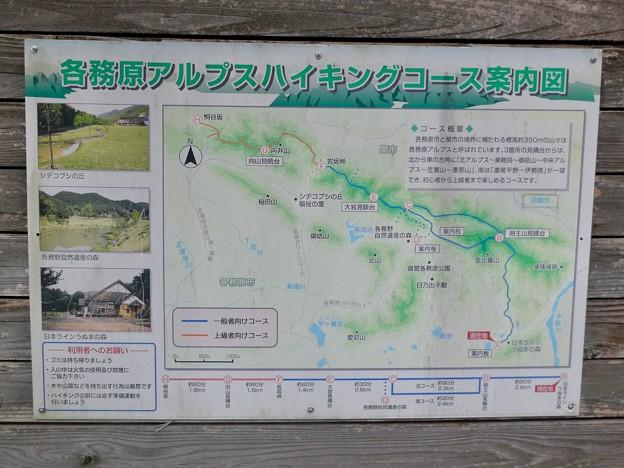 日本ラインうぬまの森;各務原アルプスハイキングコース案内図