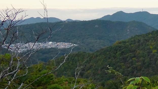 継鹿尾山から見た日本ラインうぬまの森(陰平山)