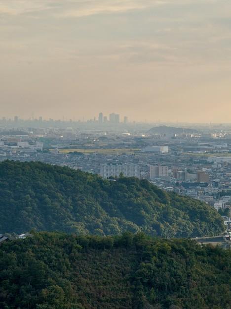 日本ラインうぬまの森:眺望の道から見た景色 - 8(名駅ビル群)