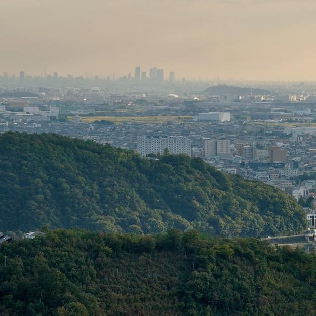 日本ラインうぬまの森:眺望の道から見た景色 - 9(名駅ビル群)