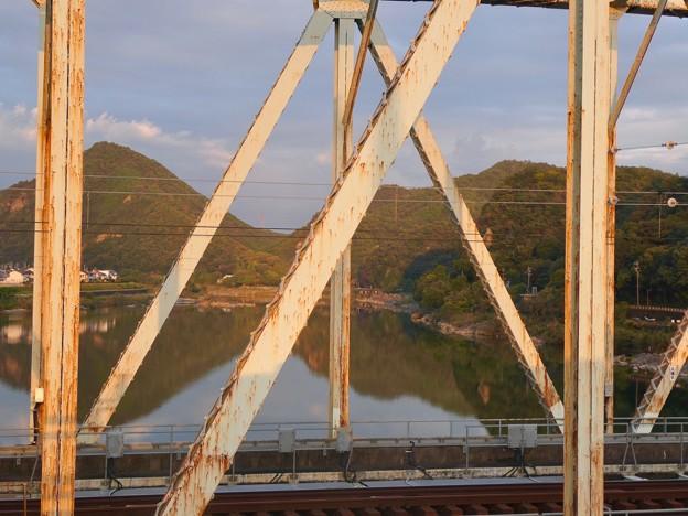 犬山橋から見た景色 - 5:犬山橋越しの大平山と継鹿尾山