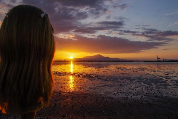 一緒に夕日を眺めましょう