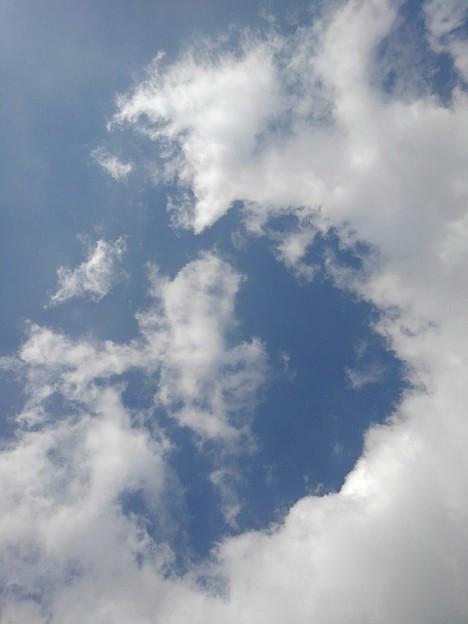 綺麗なカーブの雲(2月11日)
