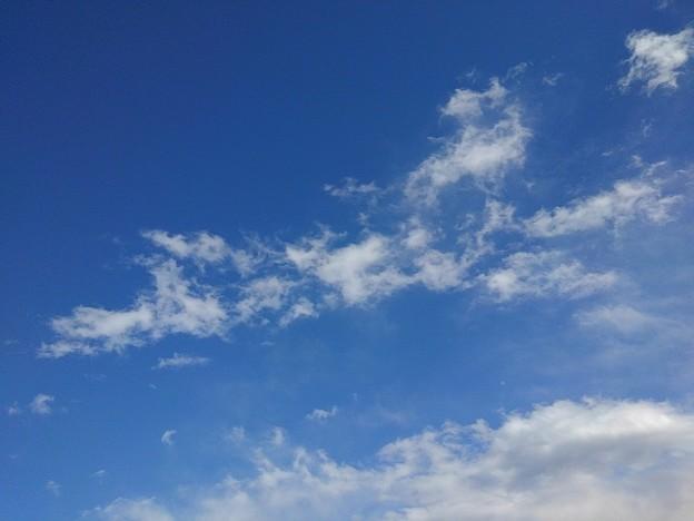 薄い雲もある青空(2月17日)