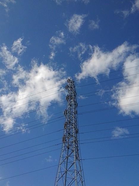 鉄塔と空(2月8日)【再アップ】