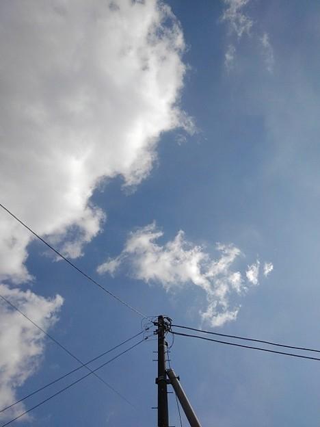 電柱と空(2月11日)【再アップ】